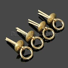 4Pcs Vintage Brass Furniture Hardware Drawer Handle Door Ring Pull Antique Style