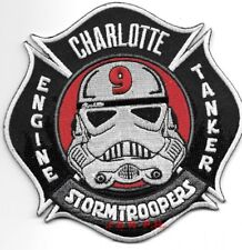 "Charlotte  Station - 9, NC  ""Stormtroopers"" (4.5"" x 4.5"") fire patch"