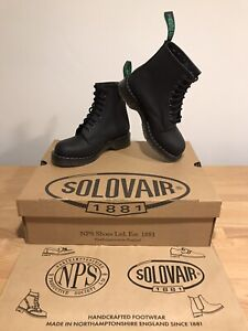 NPS SOLOVAIR Black Greasy Leather 8 Eye Derby Boot! SizeUK5! New! Only £149.90!
