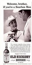 1955 Vintage ad Old Hickory Bourbon Whisky Man Cave Art  Western Hospitality