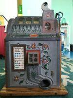 1929 Mills Jackpot - Bell (Poinsettia) Slot Machine - Excellent Condition