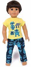 "Boy Robot Pajamas-Top & Sleeping Pants fits 18"" American Girl Doll Clothes"