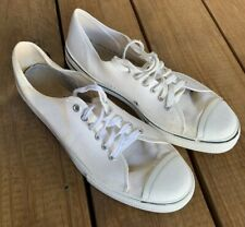 Vintage 70s Trax Canvas Low Top Sneakers Size 9 1/2 Made In Usa White