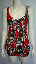 PURE HYPE Top Floral Animal Print Ladies Size XS