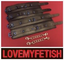 Bondage restraints Leather hand cuffs wrist fetish role play kit High quality