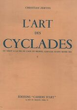 L'art des cyclades du début à la fin de l'age du bronze, 2500-1100 avant... Y1