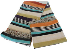 MISSONIHOME KARLO 156 DECORATIVE THROW 90% WOOL FRINGED 130x190cm 1.40' x 2.00'