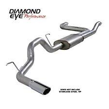 "Diamond Eye K3520A Single 3.5"" Cat-Back Aluminized Exhaust for Nissan 5.6L 04-14"