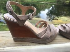 Frye Womans Sandals Wedge Leather Size 10