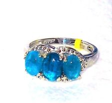 Neon Apatite Ring  2.150 carats Size 5  CHRISTMAS IN JULY