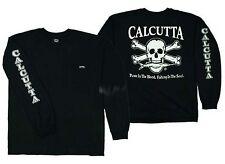Calcutta T-Shirt Black Long Sleeve Original Logo CBS