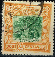 Ecuador Famous Cofee and Cocao Production stamp 1930
