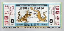 1975 NCAA FLORIDA GATORS @ AUBURN TIGERS FULL UNUSED FOOTBALL TICKET