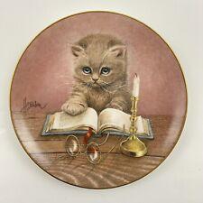 Bob Harrison Curious Kittens Plate Collection 1992 - Little Scholar Hamilton