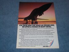 """1990 Air Force Vintage Recruitment Ad """"For Those Who Can Make An Engine Sing..."""""""