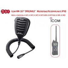 ICOM HM-167 MICROFONO-ALTOPARLANTE IPX8 PER IC-M71, IC-M72, IC-M73, IC-M73 EURO,