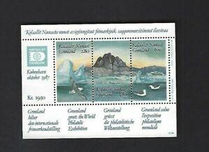 Greenland sc#175 (1987) Souvenir Sheet MNH