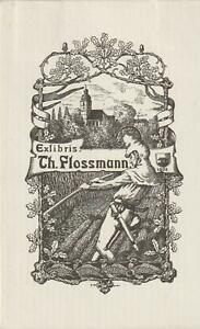 Ex libris Art Nouveau-Jugendstil Exlibris by Unidentified artist / Germany