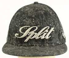 Split Clothing Apparel 59fifty New Era Black Baseball Cap Hat Fitted 7 1/2