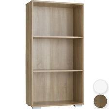 Bücherregal Holz Bücherschrank Standregal Büroregal Regal 3 Fächer 60x30x115 cm