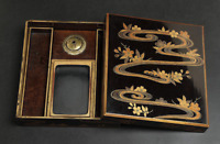Antique Japanese Lacquer Maki-e Ink Stone Box Edo