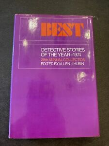 BEST DETECTIVE STORIES OF YEAR 1974 - Hardcover *Excellent Condition*