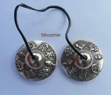 Buddhist Prayer Bell Cymbals Bells Meditation Mantra Handmade Nepal Tibetan Yoga