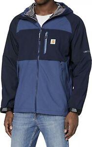Carhartt Shoreline Jacket Storm Defender Force Waterproof Men's XXL Blue $199