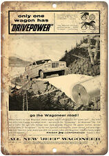 """Kaiser Jeep Corporation Wagoneer - 10"""" x 7"""" Reproduction Metal Sign"""