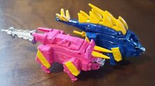 Power Rangers Dino Charge Megazord Blue/Pink Zord Arms Triceratops/Stegosaurus