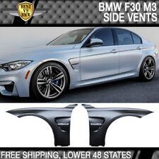 Fits 12-18 BMW F30 M3 M4 Style Fenders + Side Vent Unpainted Black