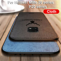 Back Cover Soft TPU Cloth Phone Case For Huawei Mate 20 pro P20 Lite Nova 3e