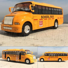 1pc School Bus Alloy Models Children's Toy Gift Yellow Pullback Toy Xmas Gift