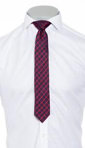 Mens Silk Ties Handmade London Designer Tartan Colour Suit Wedding Work Necktie