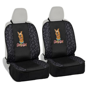 Seat Covers for Pet Dogs - 2 Front Seat Protectors - Scooby Doo w/ Paws n Bones