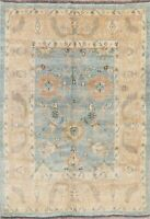 Floral Oushak Oriental All-Over Wool Area Rug Handmade Turkish Carpet 6 x 8 NEW