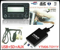 Yatour Digital CD Changer for Toyota Lexus Scion Small 5+7 plug keep CD changer