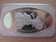 Argent ingot Cadillac 1903 1oz Ag SILVER BAR Silberbarren #16.1600
