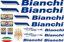 Bianchi Oldschool Bicycle Vinyl Decals Stickers Frame Replacement Adhesive Set