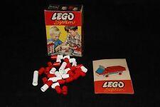 Vintage Lego Set # 223-2: 40 1x1 Round Bricks, Red and White / 1965