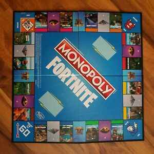 Monopoly Fortnite Game Board Only Replacement Pieces Bin5