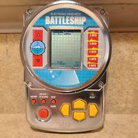 Vintage BATTLESHIP Electronic Handheld Game by Milton Bradley 1995 Silver Metal