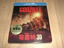 Godzilla Blu-Ray 3D + 2D Steelbook Taiwan Blu-Ray NEU Debossed Hochprägung RAR