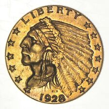 New Listing1928 $2.50 Quarter Eagle Indian Head - U.S. Gold Coin *905