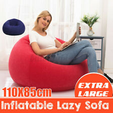 Inflatable Bean Bag Couch Chair Sofa Indoor Outdoor Lazy Lounger Home Adult Kids