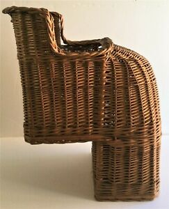 RARE Antique Wicker Child's Bike Seat Bicycle Cycle Basket Rear Mounted