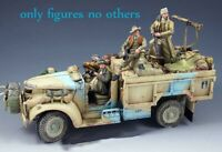 1/35 Resin Long Range Desert Patrol 4 Soldiers Unpainted Unassembled BL622