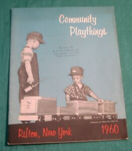 Vintage 60's Toy Catalog Community Playthings Rifton New York 1960 Wooden Toys +