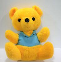 VTG Knickerbocker Bear Yellow Blue Plush Stuffed Toy Animals of Distinction