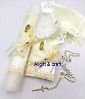 Bebé Niñas Vestido Blanco Bautizo Bonnet Virgen María